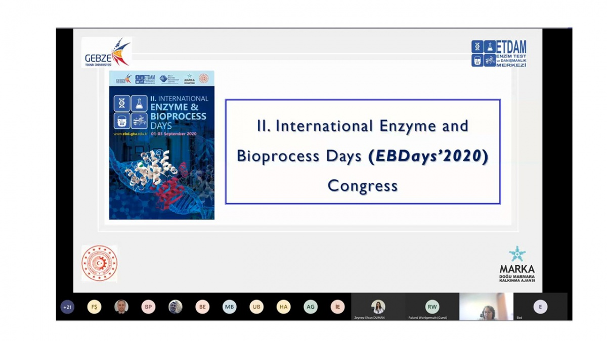 """""""II. Uluslararası Enzim ve Biyoproses Günleri"""" Kongresi Online Gerçekleştirildi"""
