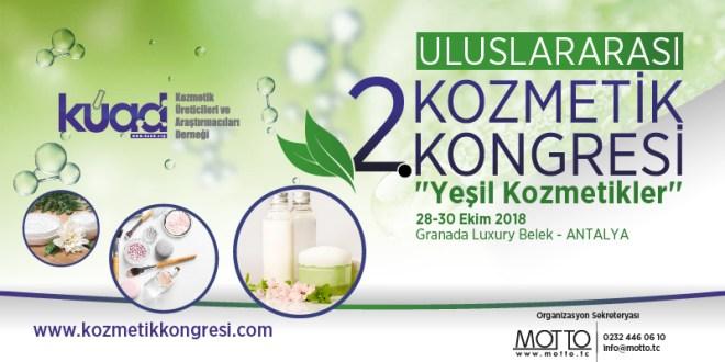 2.Uluslararası Kozmetik Kongresi 28-30 Ekim Tarihlerinde Antalya'da Gerçekleşecek.