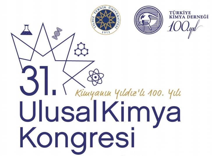 31.Ulusal Kimya Kongresi 10-13 Eylül'de Yıldız Teknik Üniversitesi'nde Gerçekleştirilecek