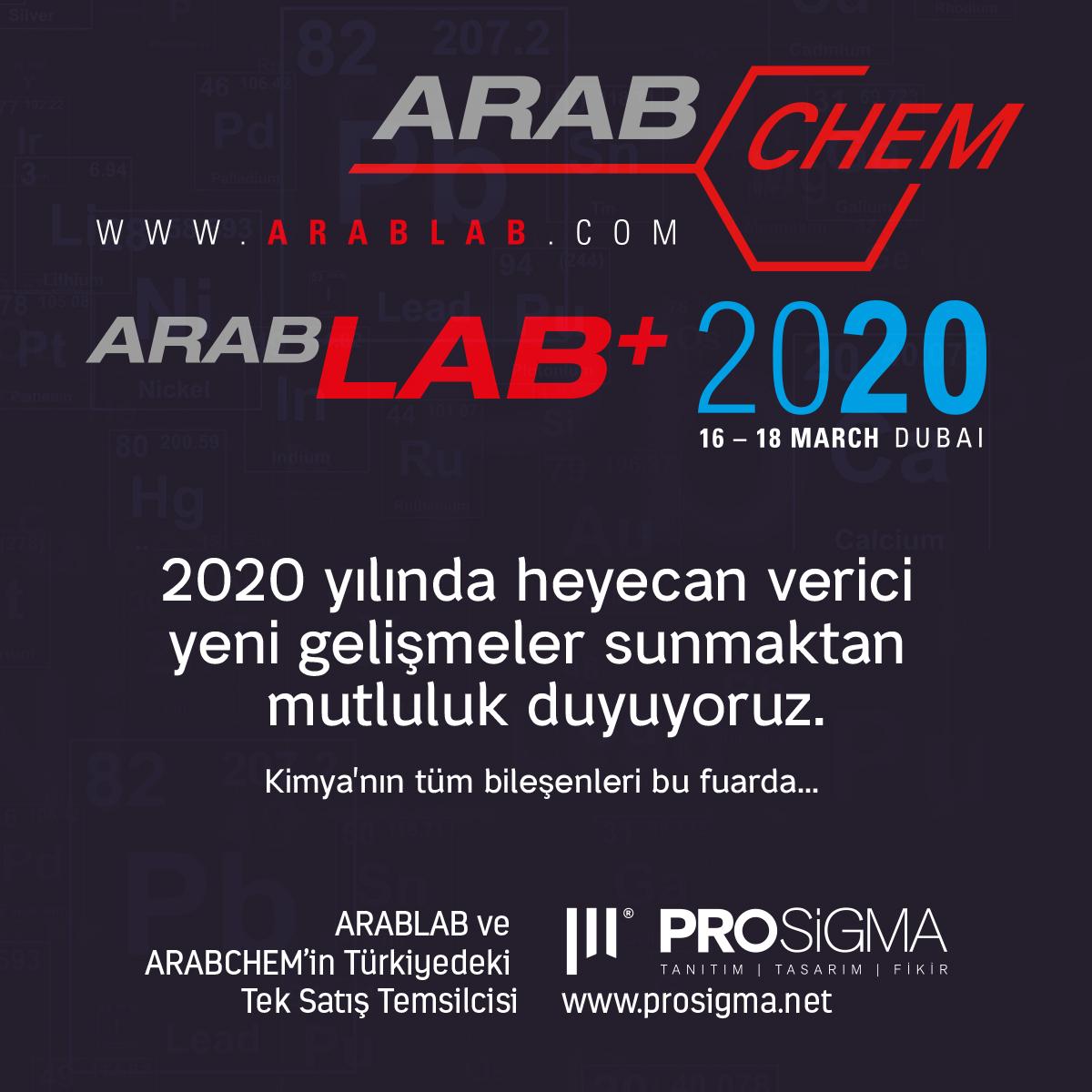 Arablab ve Arabchem Fuarlarının Türkiye Satış Haklarını PROSİGMA Aldı