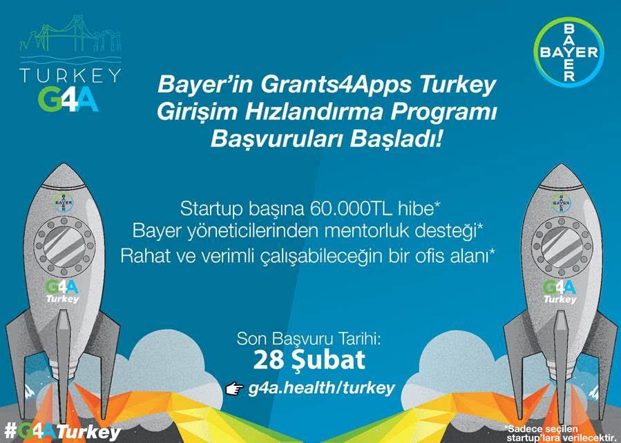 Bayer Girişim Hızlandırma Programı Grants4Apps Turkey 2019 için başvurular başladı