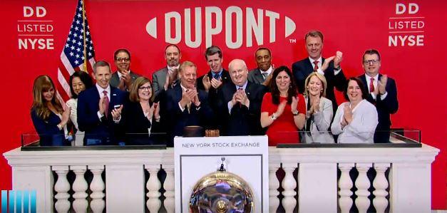DuPont, bağımsız bir şirket olarak borsada işlem görmeye başladı