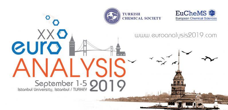 Euroanalysis 2019 Kongresi 01-05 Eylül 2019 'da İstanbul'da Gerçekleştirilecek