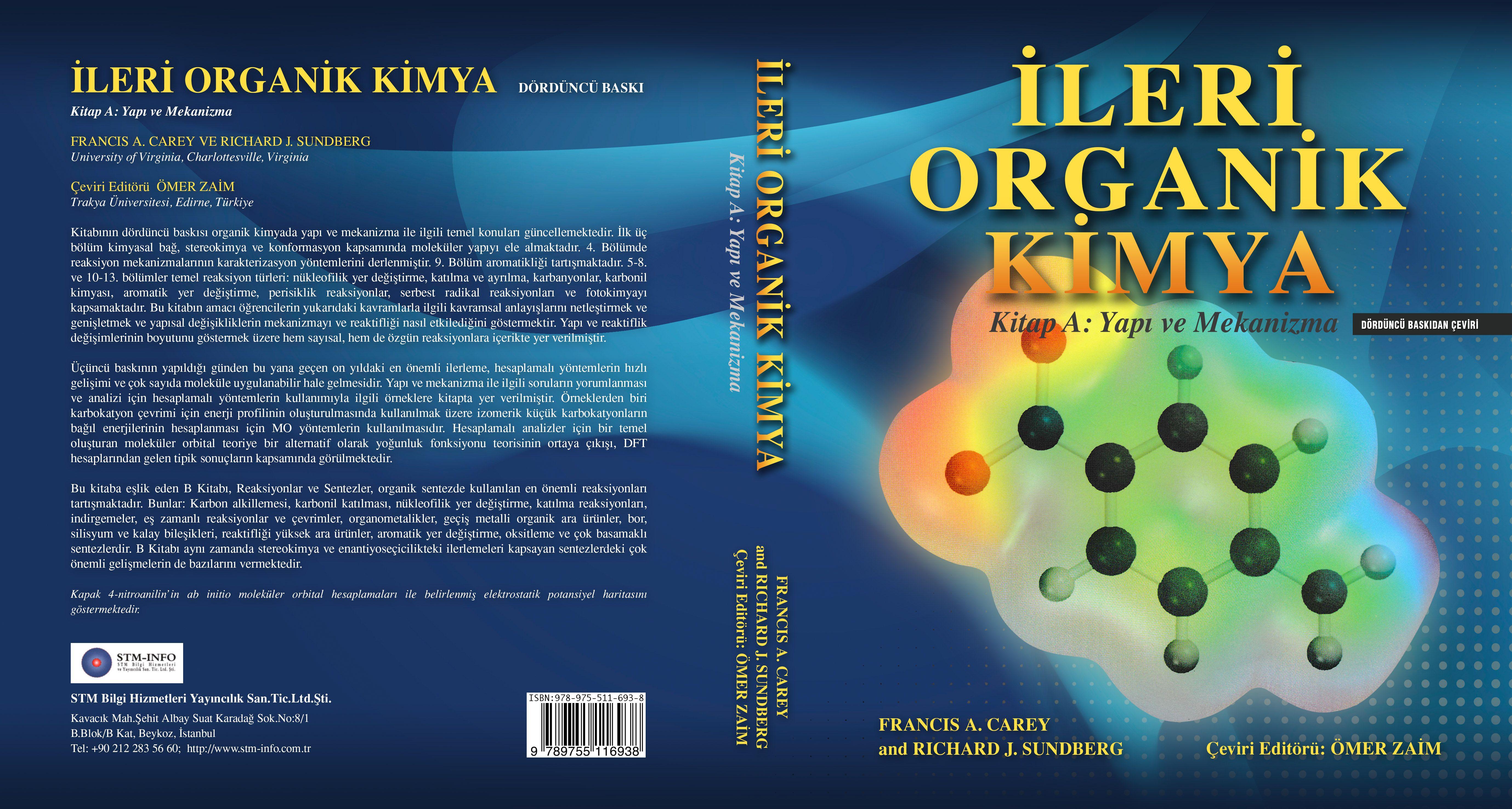 İleri Organik Kimya Kitabı Türkçe Çevirisi İle Yayında