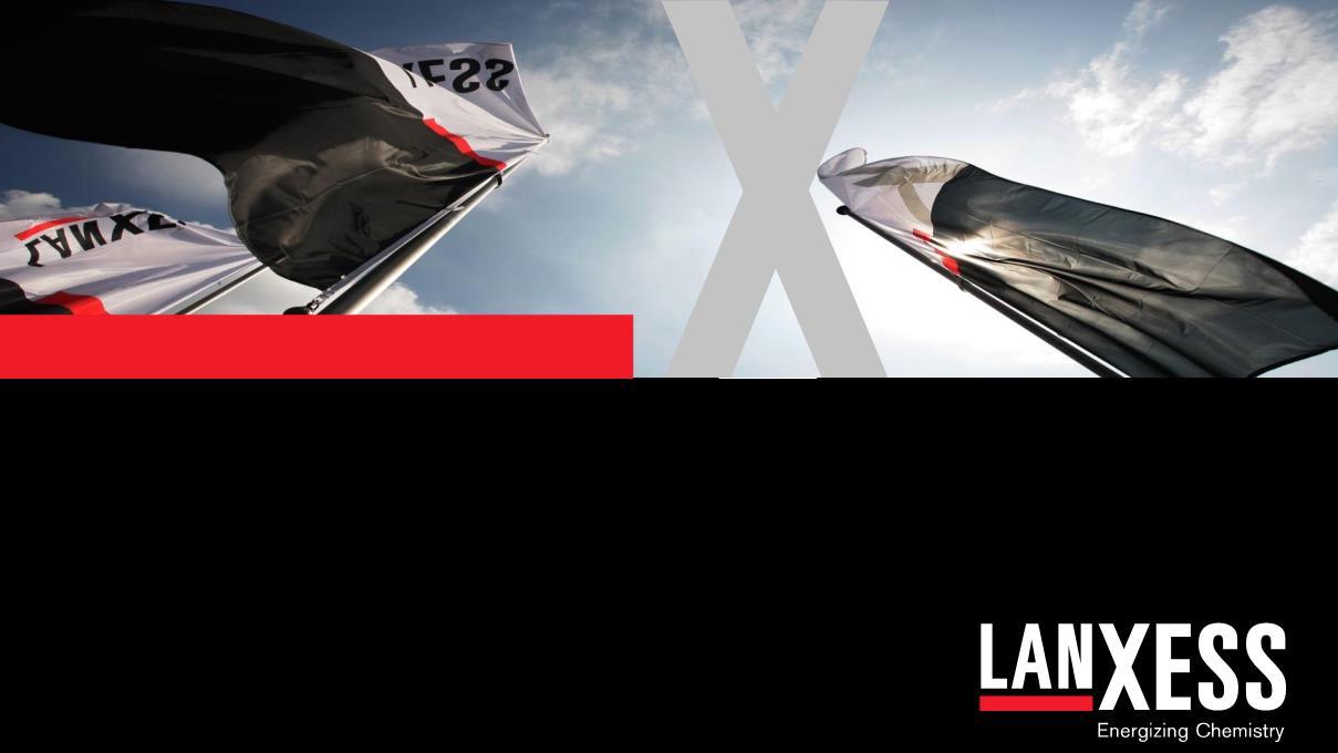 Lanxess, Katkı Maddeleri İçin Yeni Üretim Hattını Devreye Aldı.