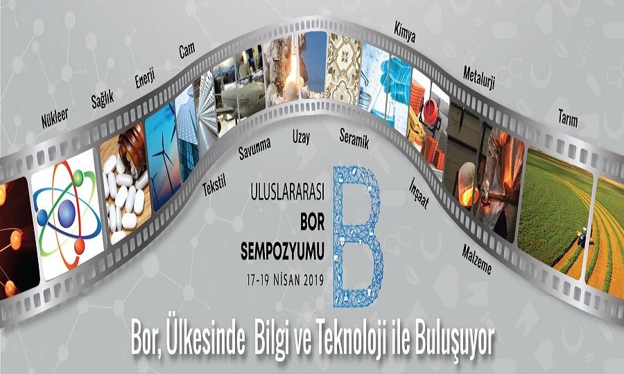 """Uluslararası Bor Sempozyumu """"BORON 2019"""" 17-19 Nisan'da Gerçekleştirilecek."""