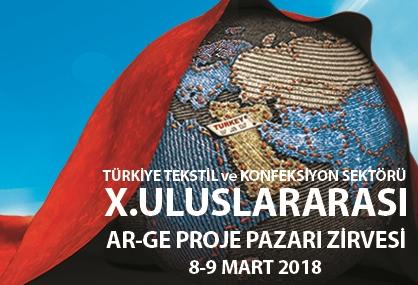 UTİB Türkiye Tekstil ve Konfeksiyon Sektöründe X. Uluslararası Ar-Ge  Proje Pazarı Zirvesi